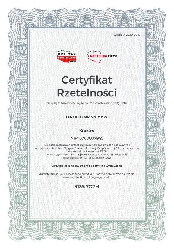 Certyfikat-Rzetelnosci-DATACOMP-Sp.-z-o.o.-PL